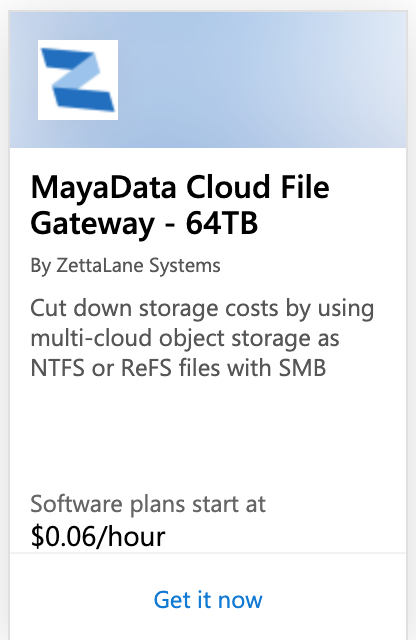 MayaNAS Cloud Enterprise