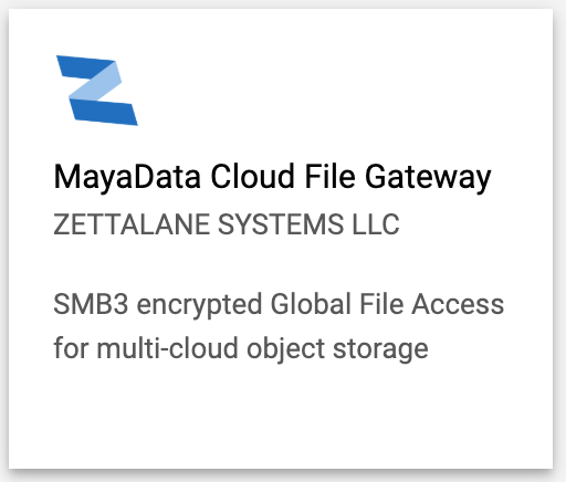 MayaData Cloud File Gateway Windows